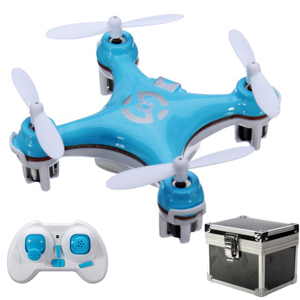 Cheerson CX-10 CX10 2.4G 6 Axis RC Quadcopter Mode 2 Blue + Gift Box
